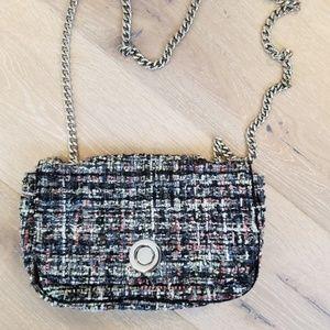 Zara tweed chain strap bag